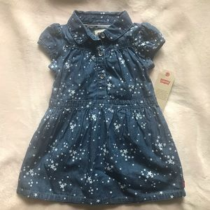 Levi's blue jeans dress with stars 18M